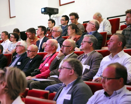 Prof. Hans Nauwynck (UGent), Prof. Ignace Lemahieu (UGent) and Prof. Carl Devos (UGent) (© Hilde Christiaens, UGent)