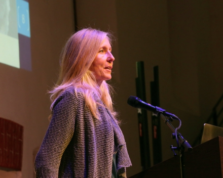 Dr. ir. Nancy Nevejan (UGent), presenting the project (© Hilde Christiaens, UGent)
