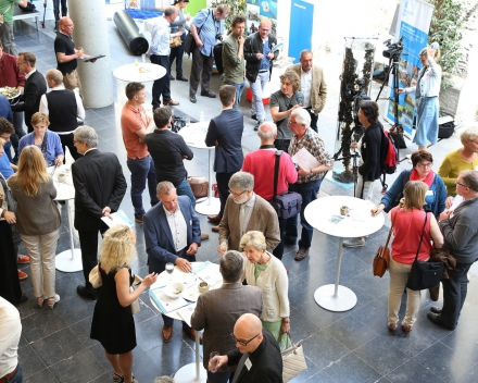 A global view of the reception, following the plenary session of the event (© Hilde Christiaens, UGent)